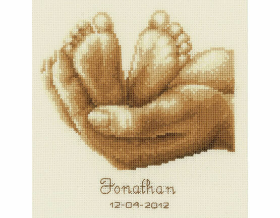 Tiny Feet Birth Sampler Cross Stitch Kit
