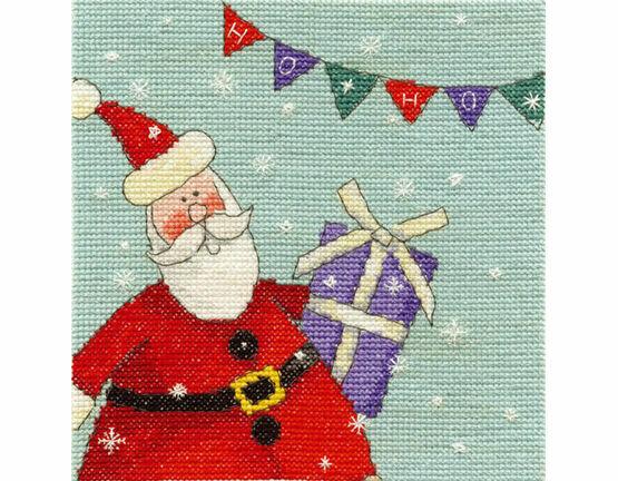 Santa With Bunting Cross Stitch Kit