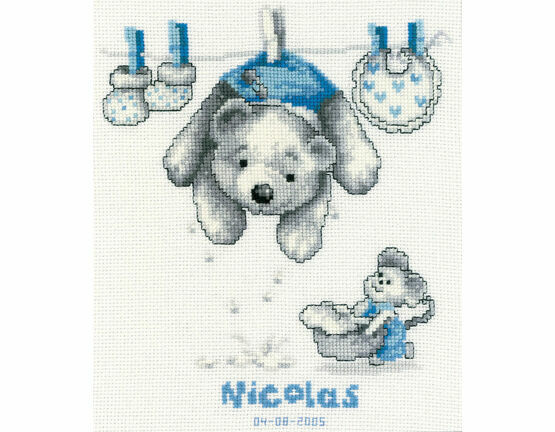 Baby Laundry Cross Stitch Kit
