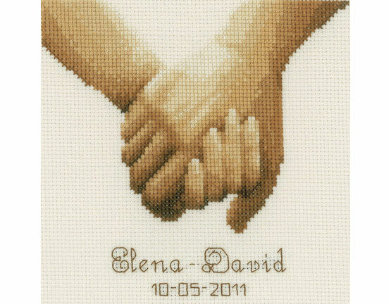 Holding Hands Cross Stitch Kit