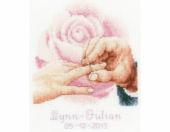 With This Ring Rose Cross Stitch Kit