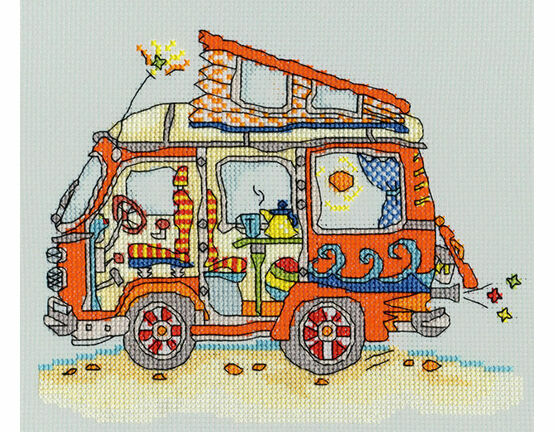 Sew Dinky VW Van Cross Stitch Kit