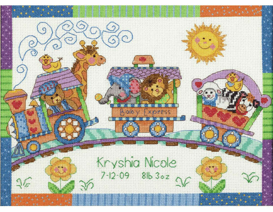 Baby Express Cross Stitch Birth Record Kit