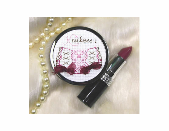 Knickers Handbag Mirror Cross Stitch Kit