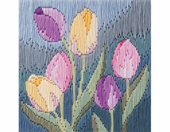 Tulips Long Stitch Kit