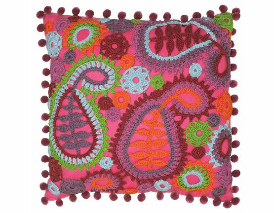Paisley Crochet Cushion Cover Kit