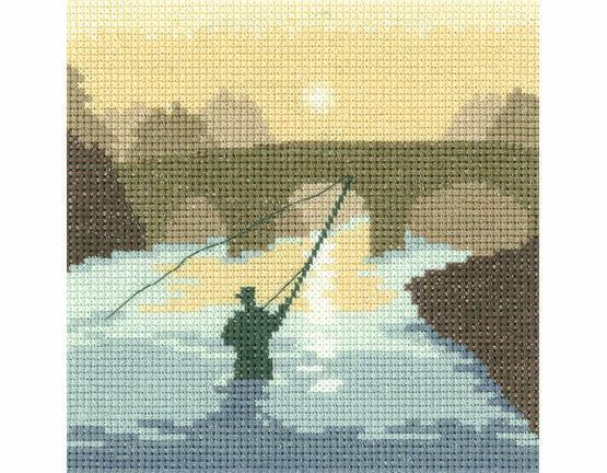 The Angler Cross Stitch Kit