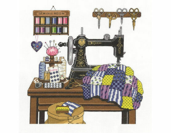 Antique Sewing Room Cross Stitch Kit