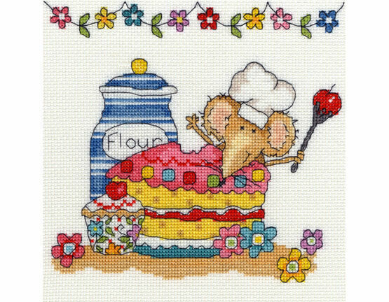Baking Mouse Cross Stitch Kit