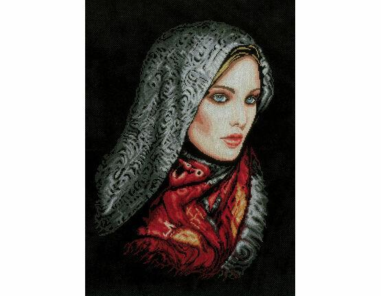 Woman In Veil Cross Stitch Kit