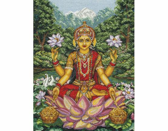 Goddess Lakshmi Cross Stitch Kit