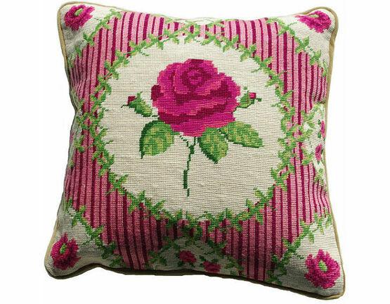 English Rose Value Half Cross Stitch Cushion Front Kit
