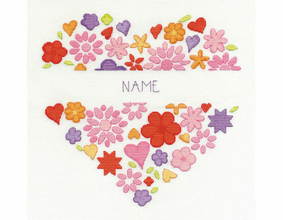 Love Heart Cross Stitch Kit