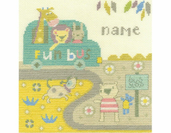 Baby Bus Stop Cross Stitch Kit