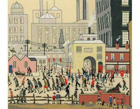Lowry - Coming From The Mill Cross Stitch Kit