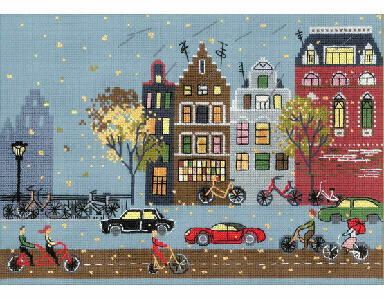 Cycle Lane Cross Stitch Kit
