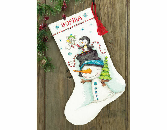 Jolly Trio Cross Stitch Stocking Kit