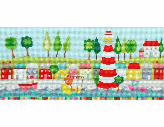 Funky Lighthouse Cross Stitch Kit