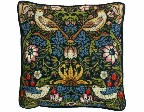 William Morris Strawberry Thief Tapestry Cushion Panel Kit