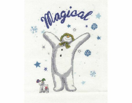 Snowman & The Snowdog - A Magical Christmas Cross Stitch Kit