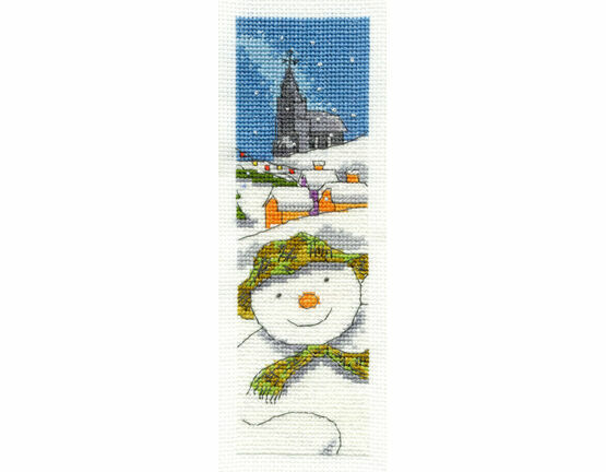 The Snowman Cross Stitch Bookmark Kit