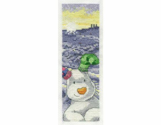 The Snowdog Cross Stitch Bookmark Kit