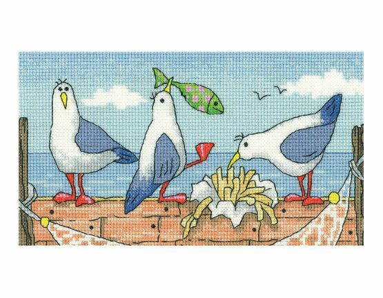 Fish 'n' Chips Cross Stitch Kit
