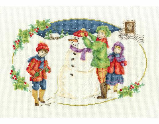 Building A Snowman Cross Stitch Kit