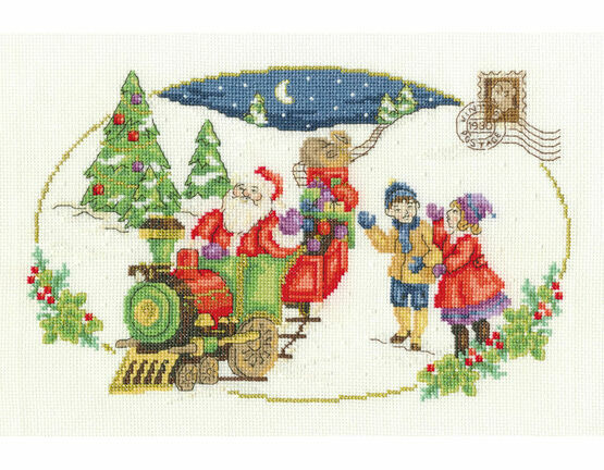 Santa Is Coming Cross Stitch Kit