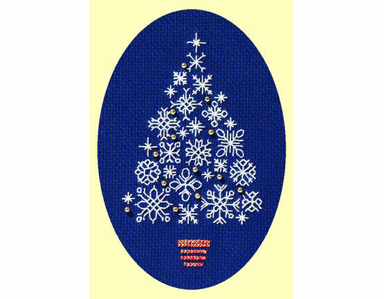 Snowflake Tree Cross Stitch Christmas Card Kit