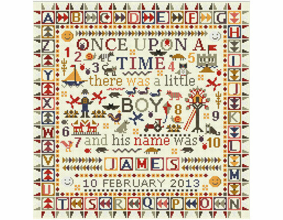 Once Upon A Time Little Boy Cross Stitch Kit
