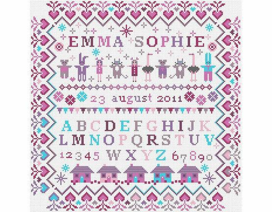 Baby Girl - Little Girl Cross Stitch Kit