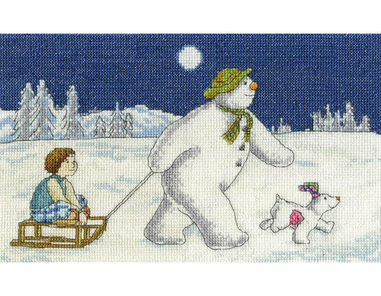 Night Time Sledging Cross Stitch Kit