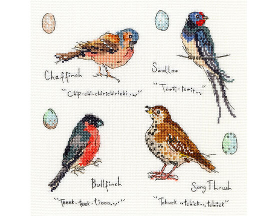 Garden Birds 3 Cross Stitch Kit