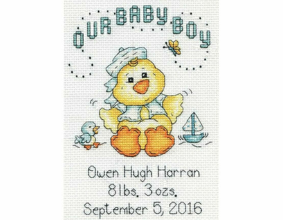 Baby Chick Boy Cross Stitch Kit