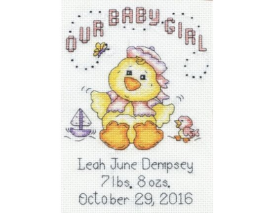 Baby Chick Girl Cross Stitch Kit