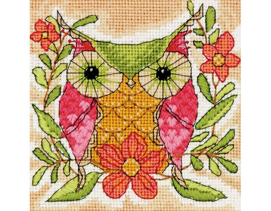 Whimsical Owl Tapestry Kit