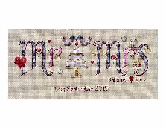 Mr & Mrs Cross Stitch Kit