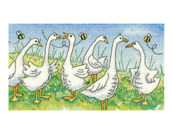 Gossiping Geese Cross Stitch Kit