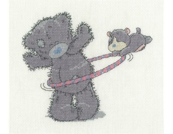 Hula Hoop Cross Stitch Kit - Tatty Teddy & My Blue Nose Friends