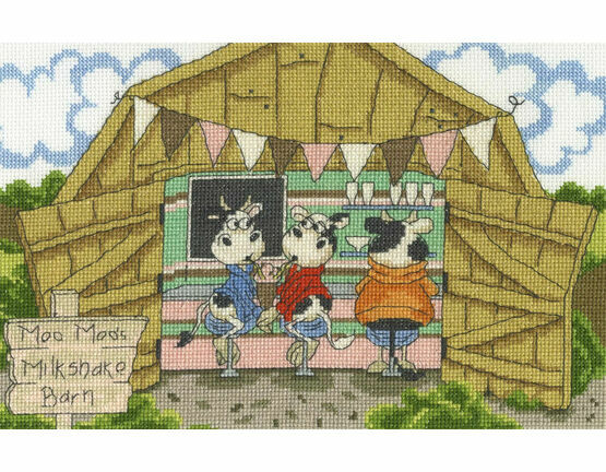 Milkshake Barn Cross Stitch Kit