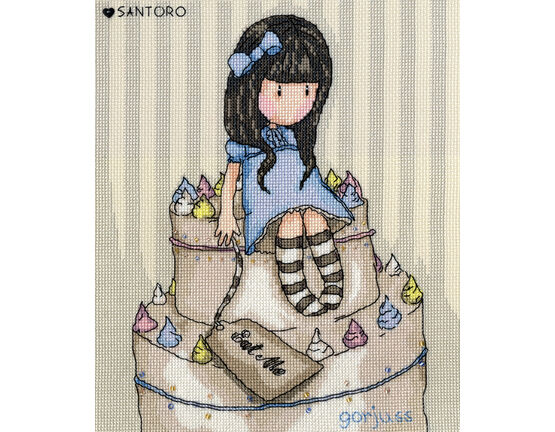 Gorjuss Sweet Cake Cross Stitch Kit