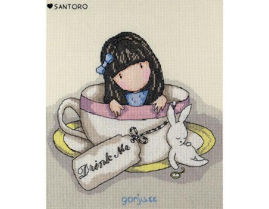 Gorjuss Sweet Tea Cross Stitch Kit