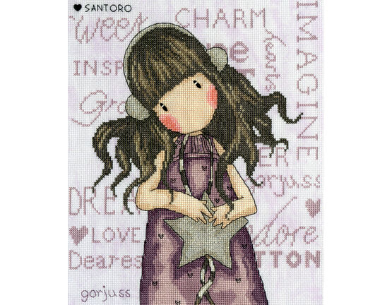 Gorjuss All These Words Cross Stitch Kit