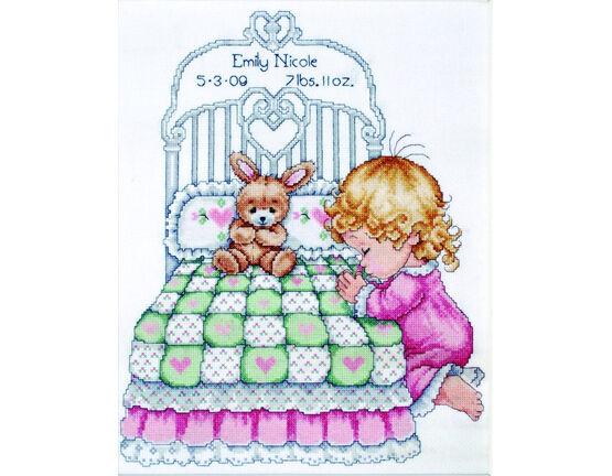 Baby Girl Prayer Cross Stitch Kit