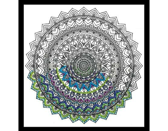 Design Works Mandala - Zenbroidery Fabric Pack