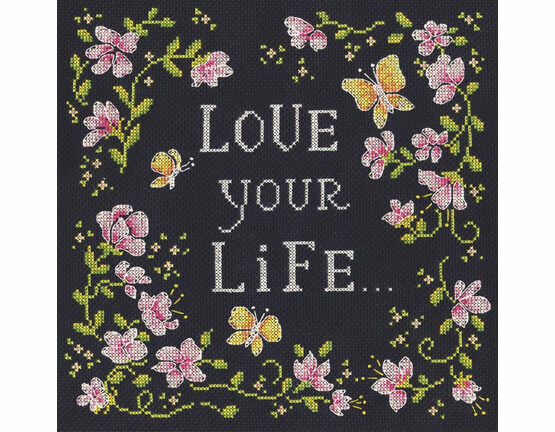Love Your Life Cross Stitch Kit