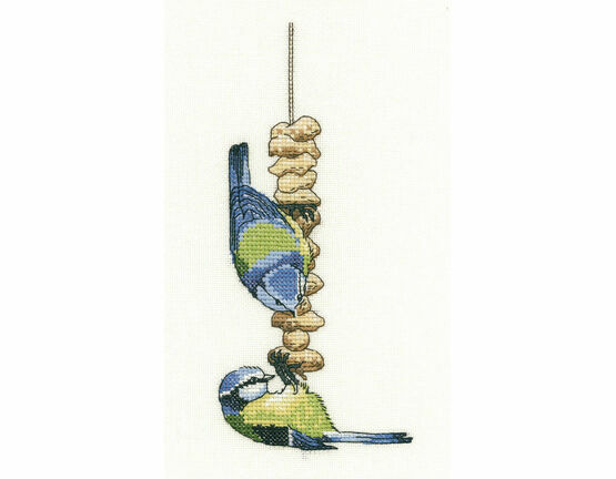 Blue Tits Cross Stitch Kit