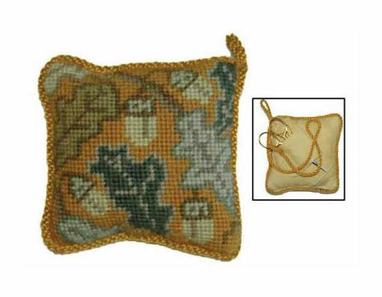 Golden Acorn Pin Cushion Tapestry Kit