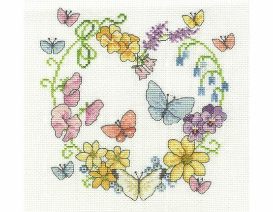 Butterflies In Bloom Cross Stitch Kit